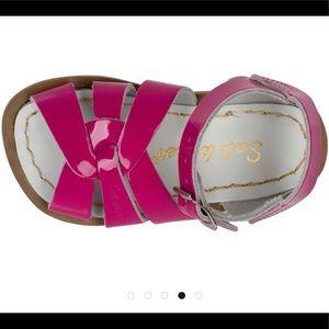 Pink Shiny Fuchsia Saltwater Sandals